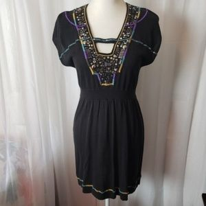 Nanette Lepore Black Dress Sequence Size Small
